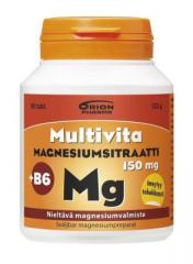 MULTIVITA MAGNESIUMSITRAATTI+B6 150MG 90 TABL