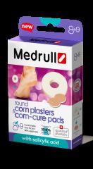 Medrull Round Corn+Corn Cure laastari liikavarvas/känsä 9+8 kpl